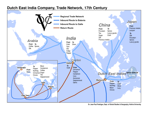 Image result for dutch trade routes 17th century