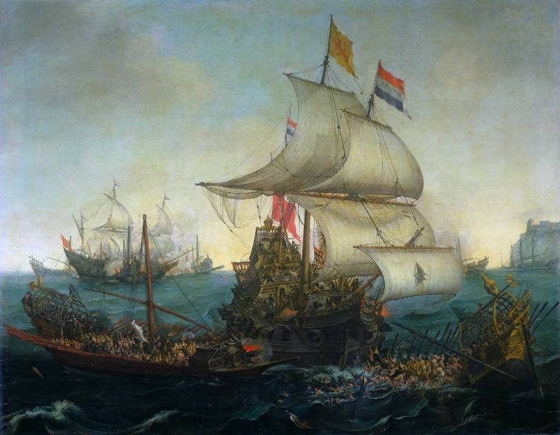 Dutch ship killing spanish galleys