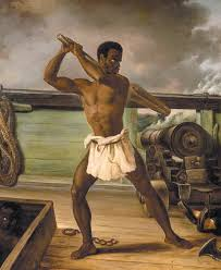 Edouard Antoine Renard Rebellion of a Slave on a Slave Ship, 1833